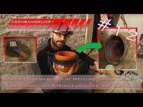 Neuen Bodenablauf Setzen - KGUSM Auf Steinzeugmuffe - Komplette Haussanierung