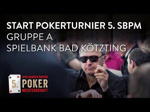 Start der Gruppe A bei der 5. Spielbanken Bayern Pokermeisterschaft in der Spielbank Bad Kötzting!