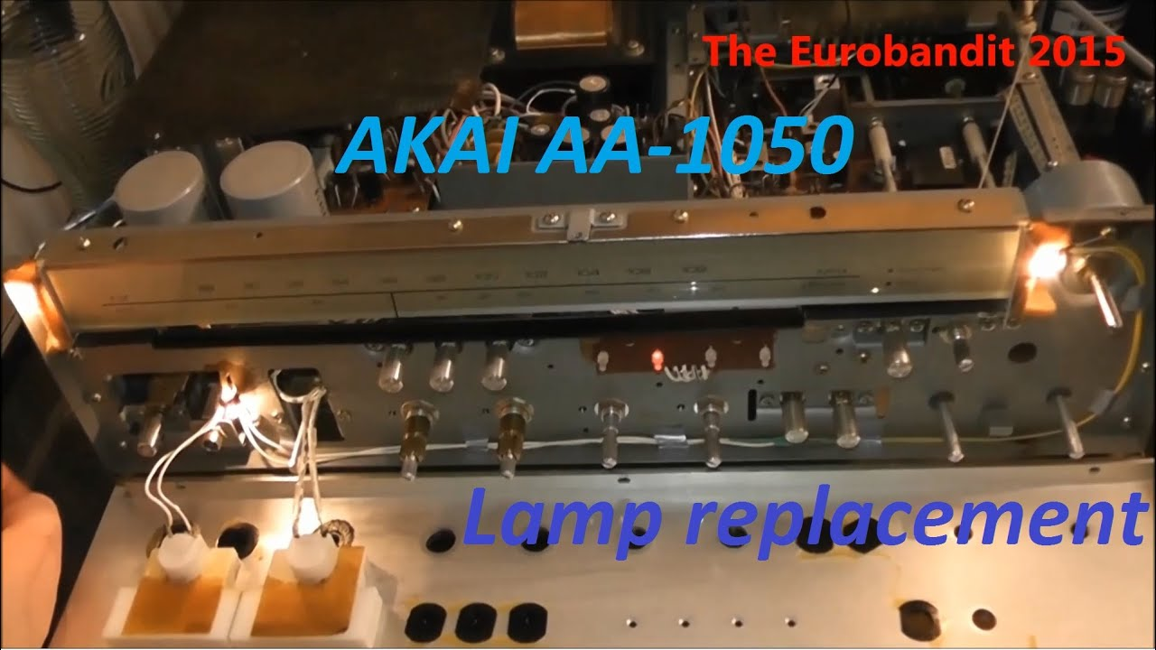 Akai Aa 1050 Faceplate Removal Amp Lamp Bulb Replacement