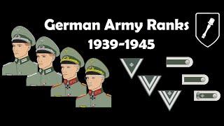 German Army Ranks 1939-1945