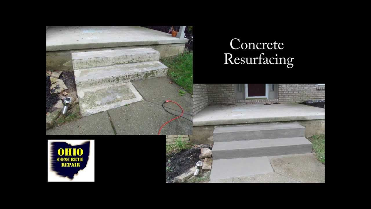 How To Resurface Concrete Steps / Cement Stair Repair /Repairing Concrete  Salt Damage   YouTube