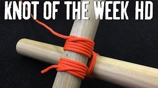 Build a Weight Bearing Structure with the Square Lashing - ITS Knot of the Week HD