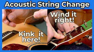 How To Change Acoustic Guitar Strings for Beginners. The BEST Way! It's EASY!