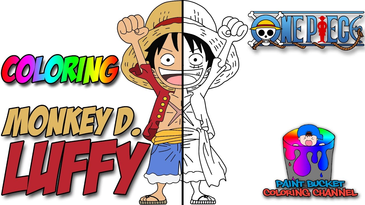 how to color luffy  one piece anime coloring page  youtube