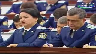 Выступление Шавката Мирзиёева перед работниками органов прокуратуры