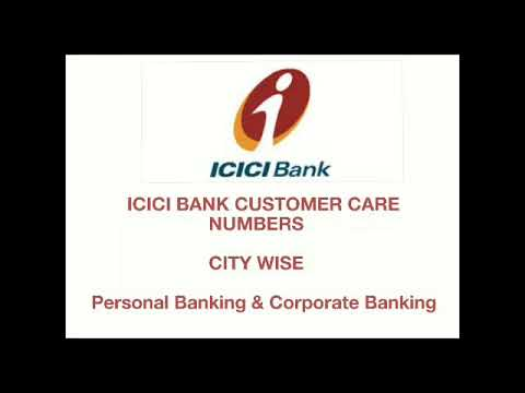 ICICI BANK CUSTOMER CARE CITY WISE