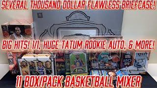 *SEVERAL THOUSAND DOLLAR FLAWLESS BRIEFCASE! BIG HITS! 1/1 \u0026 TATUM!* 11 Box/Pack Basketball Mixer
