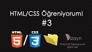 HTML CSS Öğreniyorum 3 Klasör Yapısını Oluşturmak