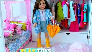 Baby Doll House toy! Play dolls closet wardrobe dress up w/ American girl doll & dollhouse furniture thumbnail
