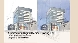 Digital Marker Drawing#001 Leslie Dan Pharmacy Building