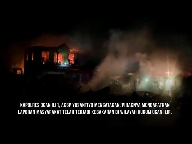 Diduga Tangki Penampungan Minyak Meledak, Enam Rumah Hangus Terbakar dan Dua Warga Terluka