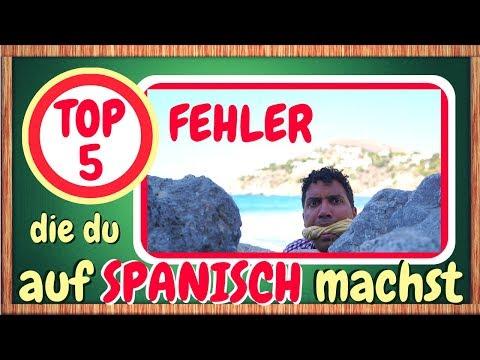 TOP 5 Fehler, die du auf Spanisch machst - Vermeide sie!