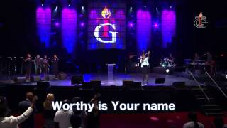 SINACH sings with Pst Benny Hinn and Brian Carn