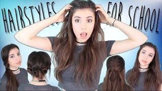 4 Easy, Quick, & NO HEAT Back to School Hairstyles! Thumbnail