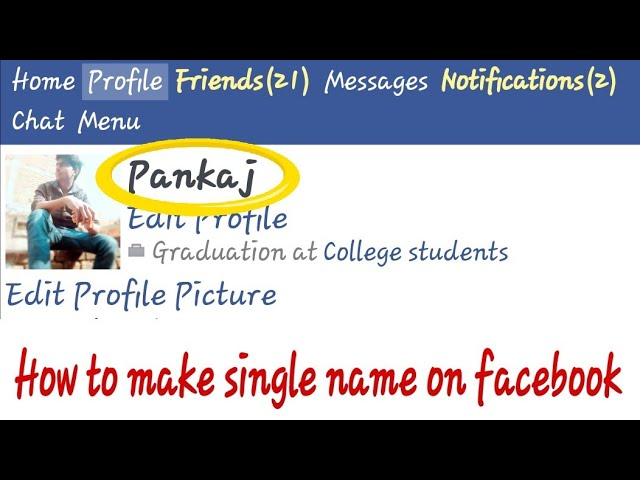 How To Make Single Name On Facebook 2018 100 Working Pk Gallery Youtube