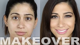 Airbrush Makeup Tutorial Makeover! | Alex Faction