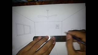 How to draw room in one point perspective