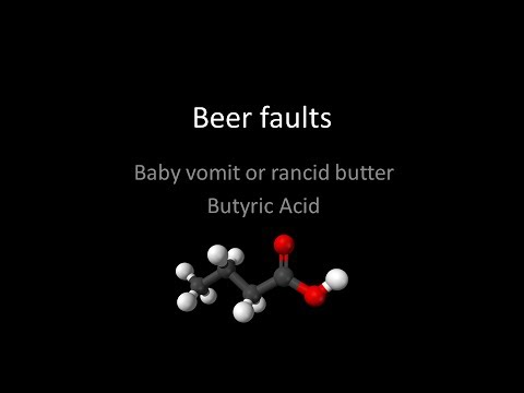Baby vomit or spoiled milk - Butyric Acid beer fault