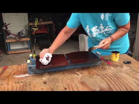 Lilac Creek Restoration: DIY Apply Wood Stain on Side Table