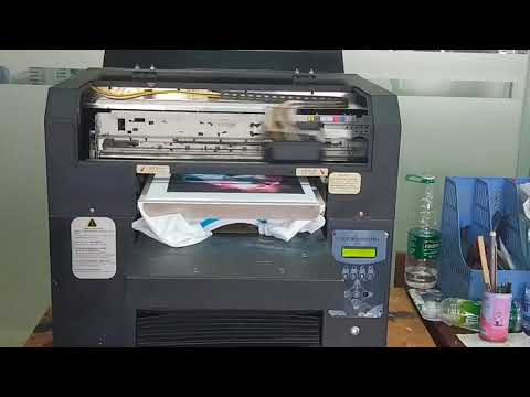 How to print a customized t-shirt by DEM-JET-C3 printer