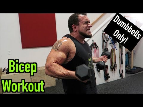 Intense 5 Minute Dumbbell Bicep Workout #2