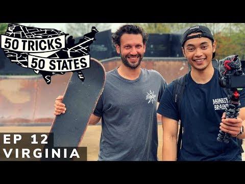 50 Tricks 50 States Skateboarding Challenge | Episode #12 | Virginia