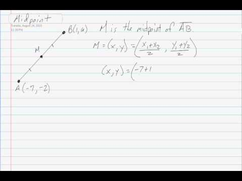 how to find the midpoint of a line segment calculator