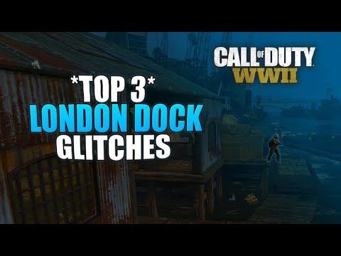 "COD WW2 - 3 *EASY* Glitches On ""LONDON DOCKS""   WWII Multiplayer Glitches!"