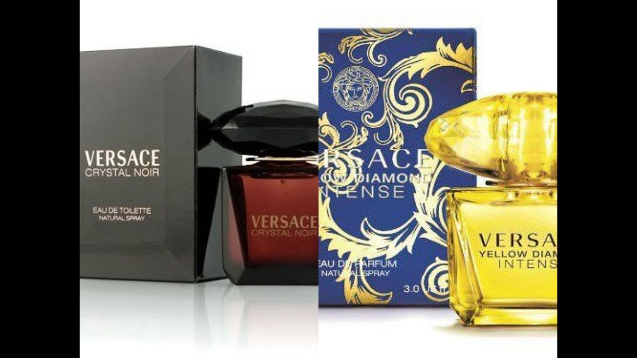 Versace Crystal Noir Edtyellow Diamond Intense Women Youtube