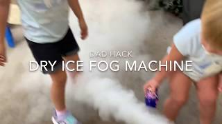 Dad Hack!!! $30 Fog Machine using Dry Ice and Hot Water