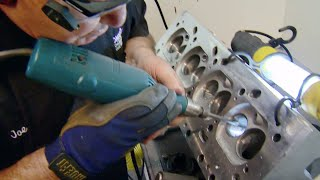 Download Hand Porting Cylinder Heads on an Olds 455 Big Block with Legendary Joe Mondello- Horsepower S13, E6 Mp3 and Videos