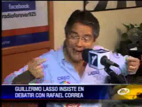 Guillermo Lasso insiste en invitar a debatir a Rafael Correa
