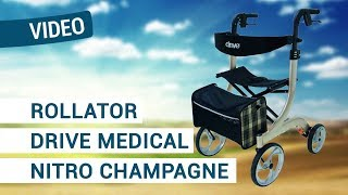 Produktvideo zu Rollator Drive Medical Nitro Champagne