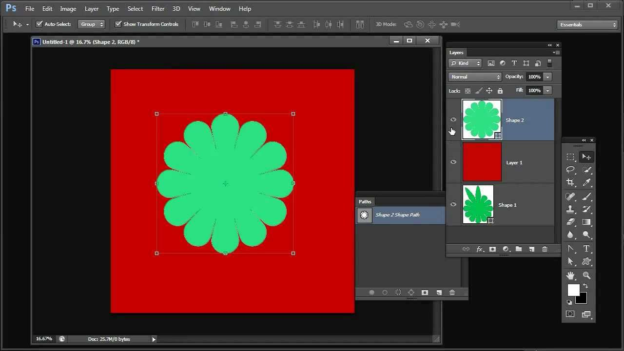 Shapes paths vectors and selections in photoshop youtube baditri Gallery