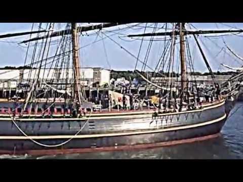HMS Bounty docking in Gloucester, Mass.