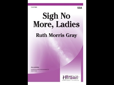 sigh no more ladies song piano vocal