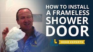 How to Install a Frameless Glass Shower Door (On Tile!)