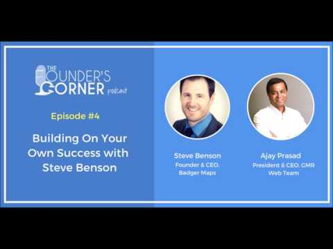 Building On Your Own Success with Steve Benson | The Founder's Corner Podcast