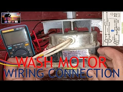 washing machine motor wiring connections / tagalog