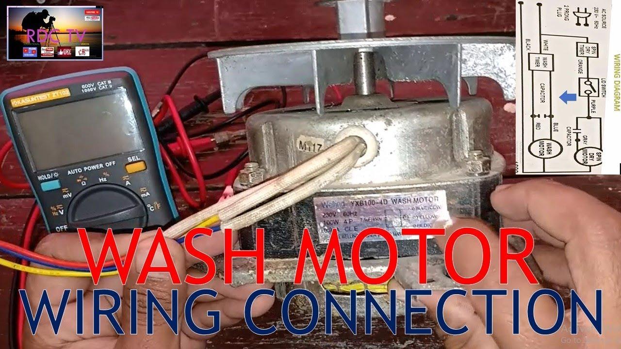 washing machine motor wiring connections tagalog [ 1280 x 720 Pixel ]