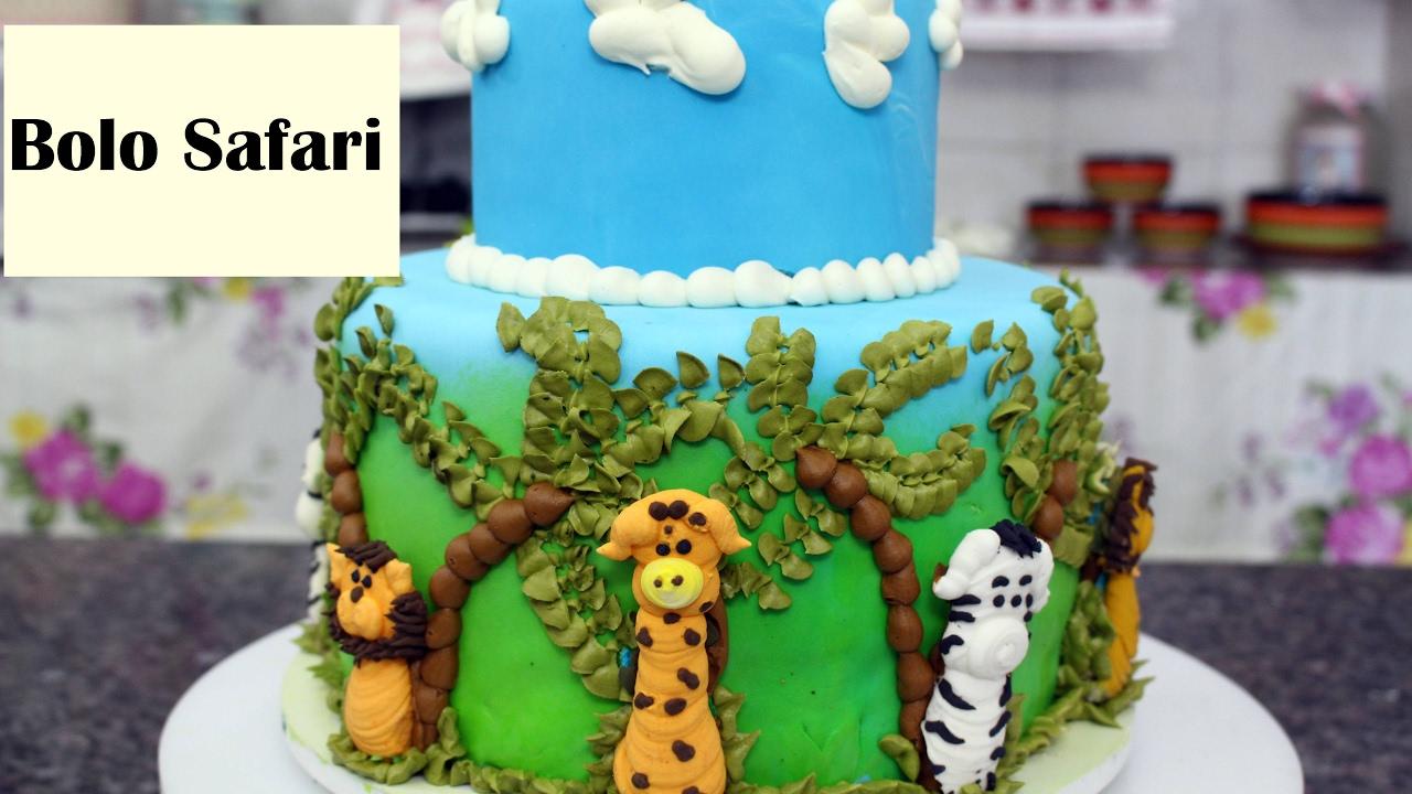 Amado Como Fazer um lindo bolo Safari - YouTube EP11