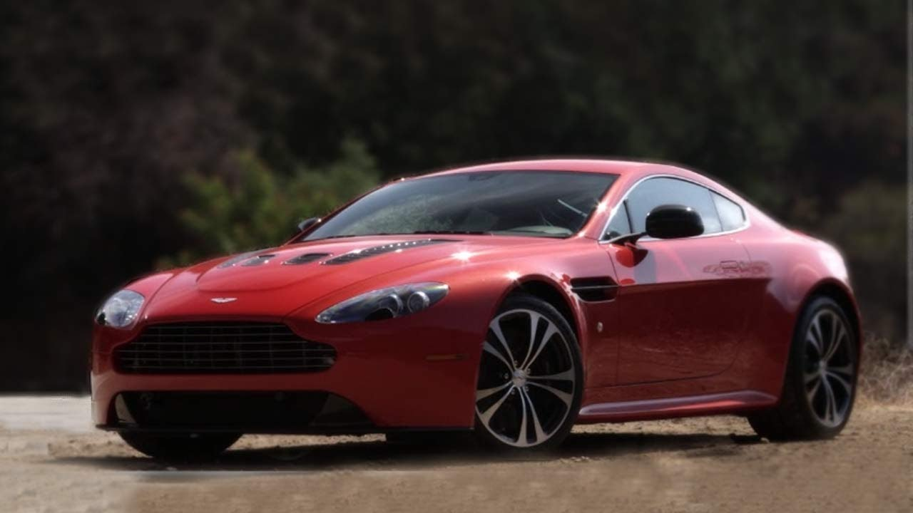 2013 Aston Martin V12 Vantage Driven On Canyon Roads Car And