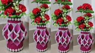 How to make flower vase | Easy flower vase | form sheet flower vase | 175