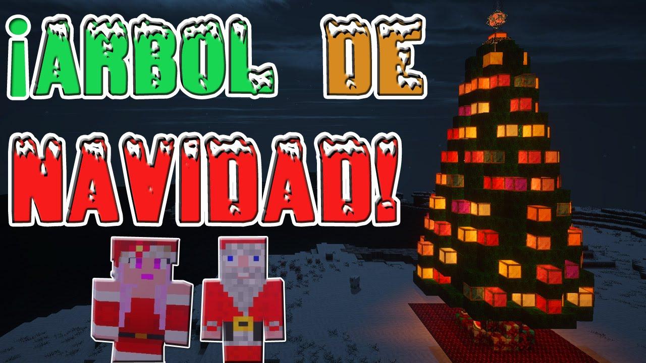 C mo hacer un rbol de navidad en minecraft con luces youtube - Luces arbol de navidad ...