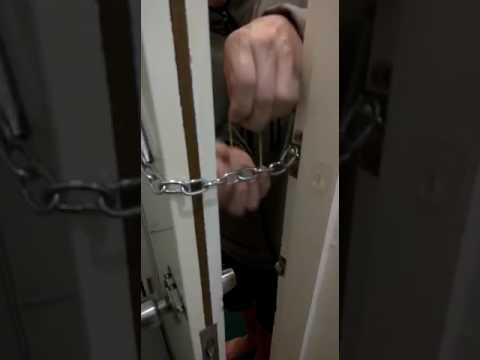 How to open chain door lock from outside - YouTube