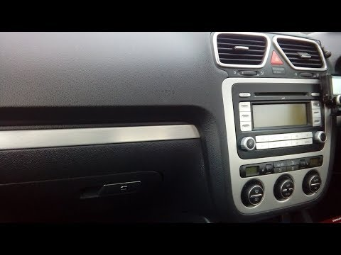 VW EOS 2006 - 2015 how to remove radio simple guide with part numbers