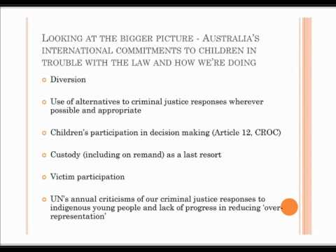 Future directions for juvenile justice in NSW, Don Weatherburn & Jenny Bargen, 10/5/2012, Sydney