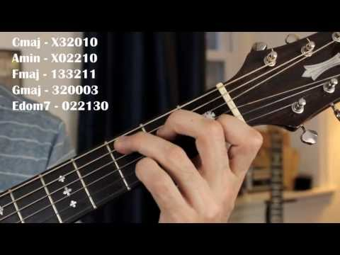 Hallelujah - Leonard Cohen/Jeff Buckley Easy Guitar Lesson (No Capo)
