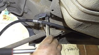 замена тросов ручника Hyundai Tucson
