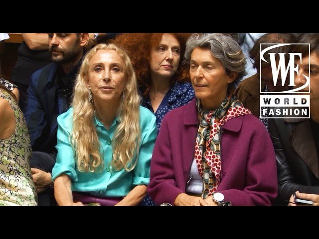 Front Row Aquilano.Rimondi Spring-Summer 2016 Milan Fashion Week